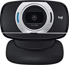 Logitech HD Laptop Webcam C615 with Fold-and-Go Design, 360-Degree Swivel, 1080p Camera(Renewed)