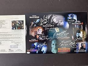 Nick Castle Dick Warlock George Wilbur signed 12x18 Photo Michael Myers Cast JSA Letter