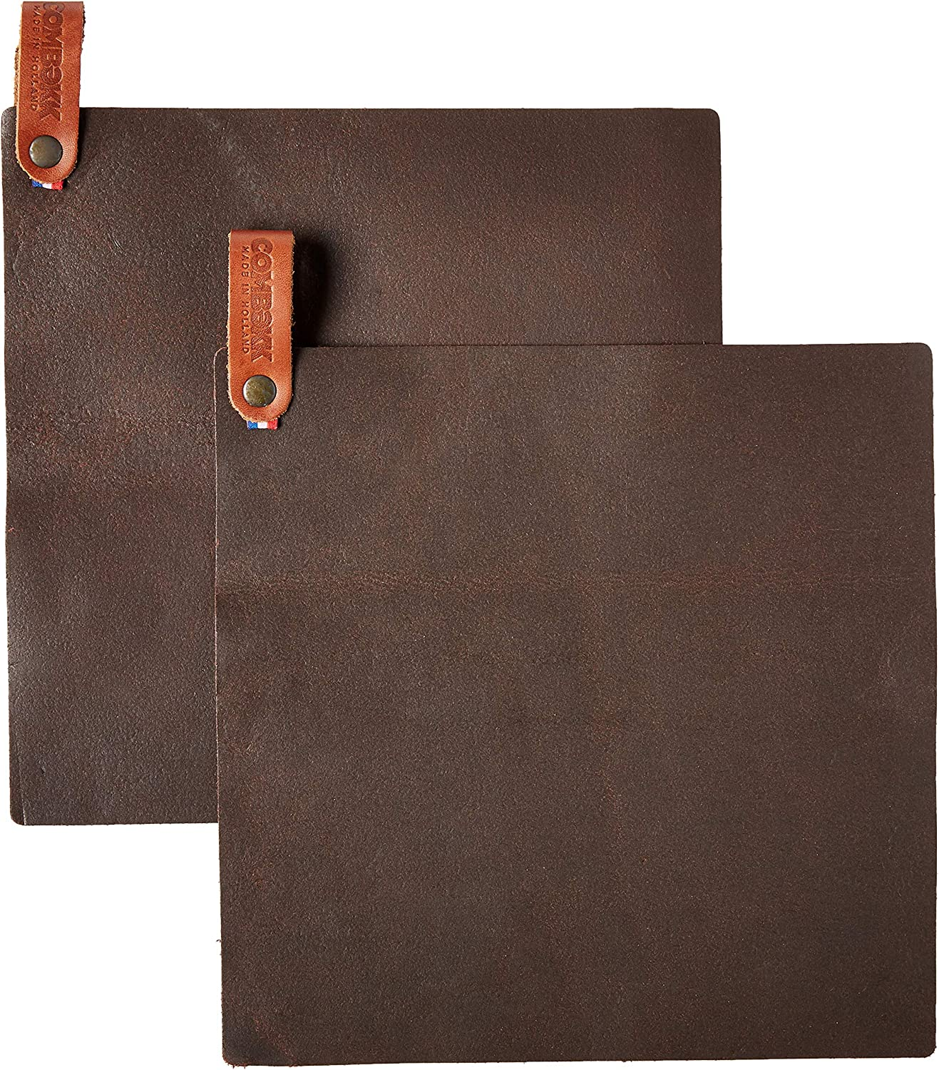 Cuisipro Popular brand in the world Combekk leather Mail order pot holder Set 2 of Brown