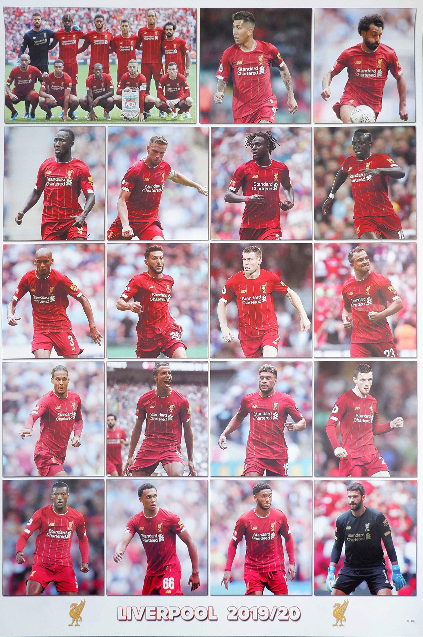 Amazon Com Maxis Liverpool F C 2019 2020 Football Soccer Wall Decoration Poster 001 Posters Prints