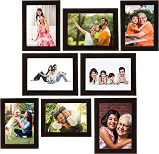 Amazon Brand - Solimo Collage Photo Frames, Set of 8, Black