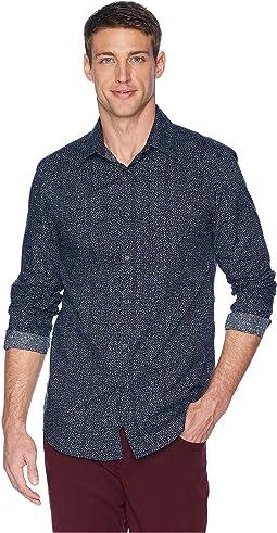 Slim Fit Mini Floral Resist Spill Shirt