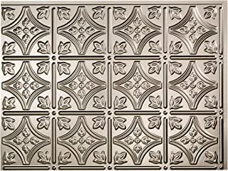 Fasade Easy Installation Traditional 1 Brushed Nickel Backsplash Panel for Kitchen and Bathrooms (18
