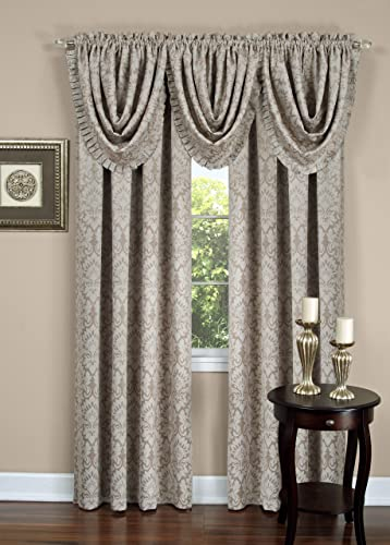 high quality Achim new arrival Home Furnishings, SUWTVLTN12 popular Tan Sutton Pleated Waterfall Valance outlet sale