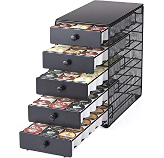 NIFTY Solutions 90 K-Cup Capacity 5-tier Coffee Pod Storage Drawer, Satin Black