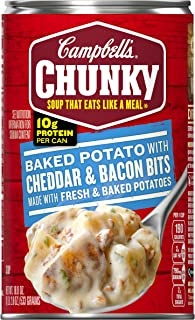 Campbell's Chunky Baked Potato with Cheddar & Bacon Bits Soup, 18.8 oz. Can (Pack of 12)
