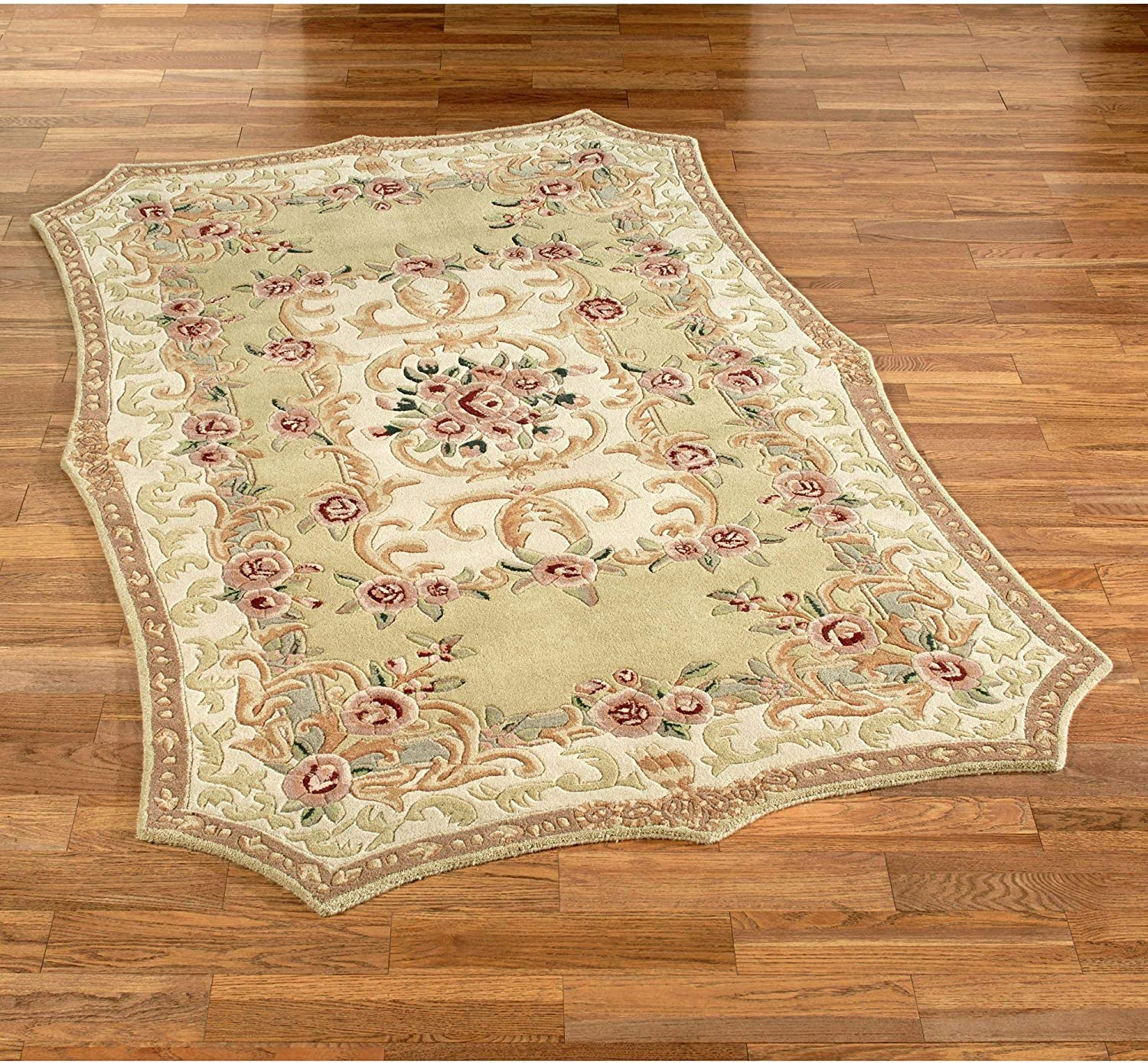 Vintage Aubusson Area Rug Cream Furniture Decor