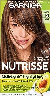 Garnier Nutrisse Nourishing Hair Color Creme, H3 Warm Bronze (Packaging May Vary)