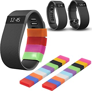 Techion Protective Silicone Fasteners Ring Holder for Fitbit Flex/Fitbit Alta/Garmin Vivofit/Samsung Gear fit Wristband/Fitbit Charge Wristband(20 pcs/Pack)