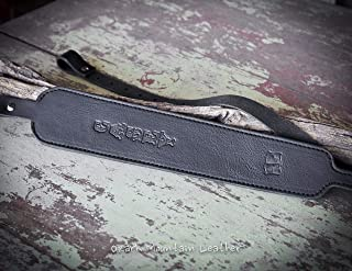 Custom Leather Rifle Sling Gun Sling -Padded- Customizable black