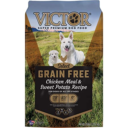 VICTOR Select - Grain Free Chicken Meal & Sweet Potato Recipe, Dry Dog Food, 30 lb