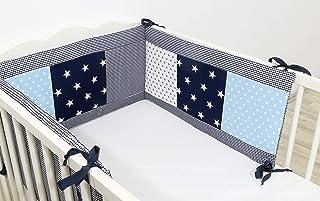Protector de cuna de ULLENBOOM ® con azul claro azul gris (