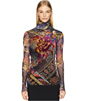 FUZZI - Long Sleeve T-Neck with Embroidery