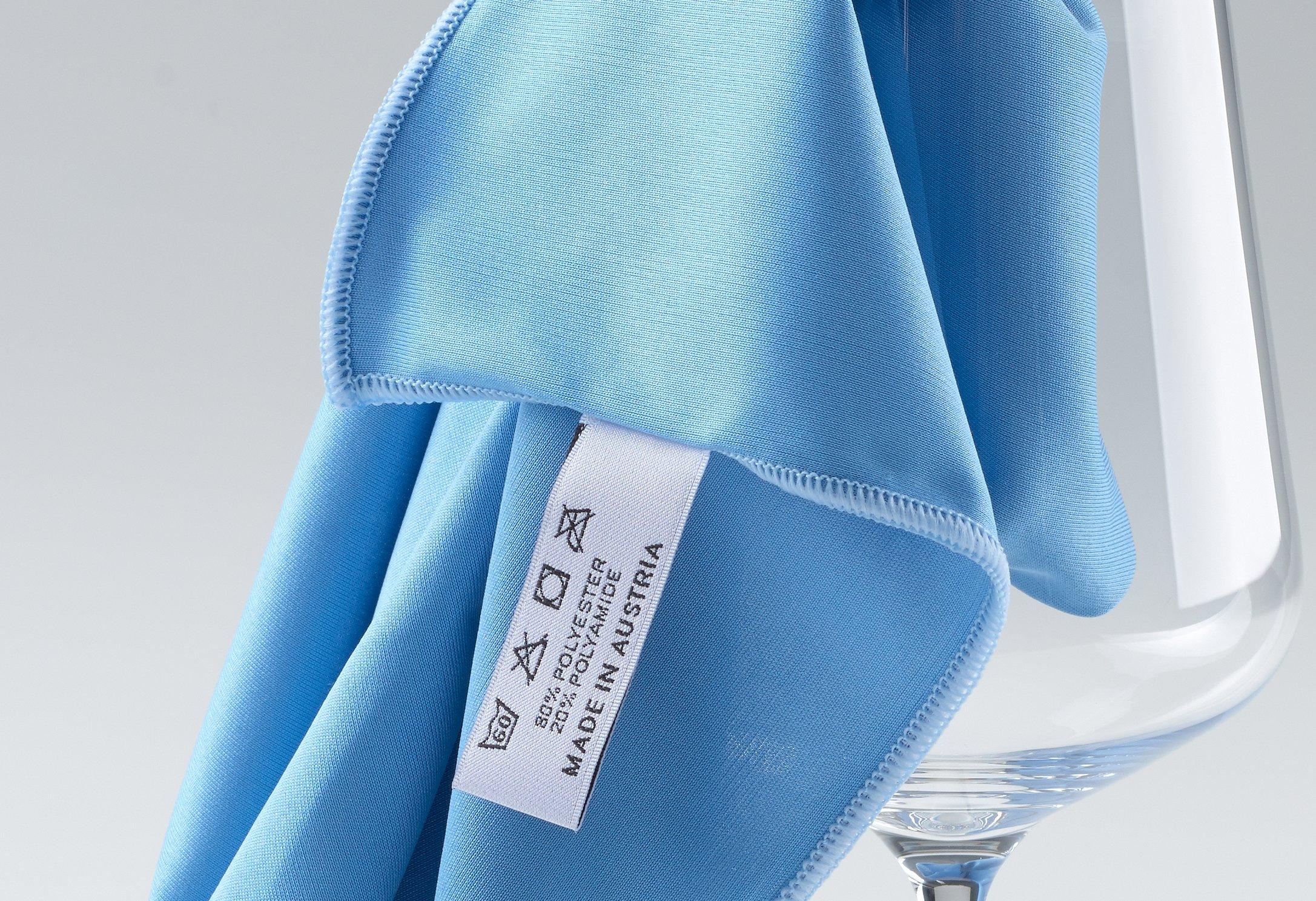 culiclean Paño de Pulido en Azul con borda Azul, Limpia Copas y ...