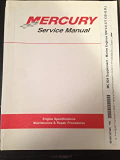 Mercury MerCruiser Service Manual Supplement to Number 24 Marine Engines GM V-* 377 CID (6.2L) (Supplement to Number 24)