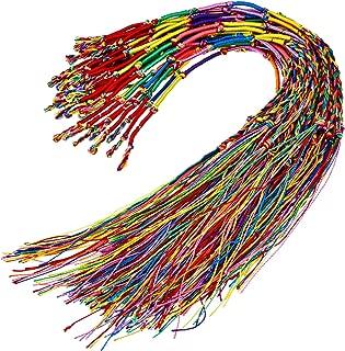 Hotop 30 Pieces Handmade Braided Bracelets Colorful Friendship Thread Bracelet for Wrist Ankle (Random Color)