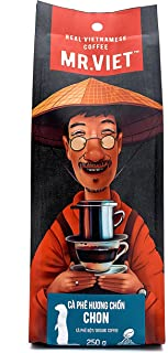 Mr Viet Chon Ground Coffee   Fresh and Promptly Delivered from Vietnam - Roasted Authentic Vietnamese, Kopi Luwak Analogue, Suitable for All Coffee Machines 250g