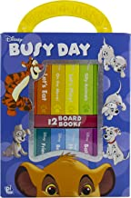Disney Lion King, Winnie the Pooh, Dumbo, and More! - Busy Day My First Library 12 Board Book Block Set - PI Kids