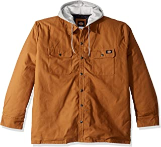 Men's Relaxed Fit Hooded Duck Quilted Shirt Jacket Big