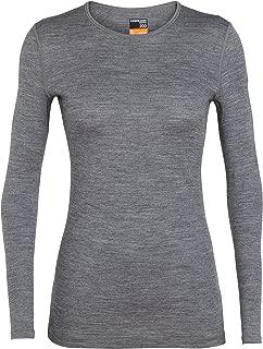 Icebreaker 女式 136 200 Oasis 圆领打底衫长袖上衣 - 石灰,大号