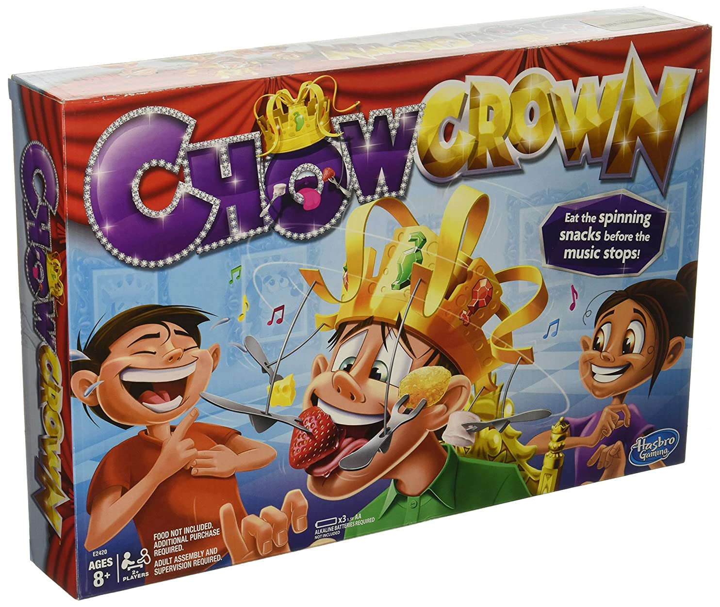 Chow Crown Game Kids Electronic Spinning Crown Snacks Food Kids & Family Game upneotcazyi58