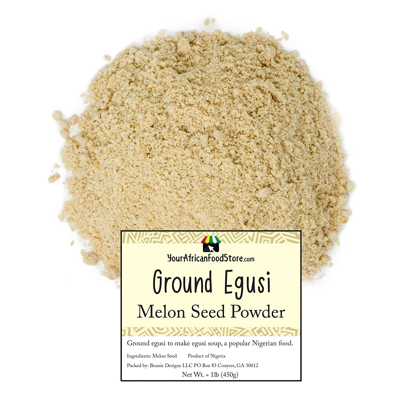 Amazon Com Nigerian Egusi Seeds Ground Egusi Powder For Egusi Soup Nigerian Seasoning African Food 500g 1 Pound Grocery Gourmet Food