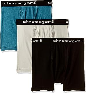 Chromozome Men's Solid Trunks (Pack of 3)