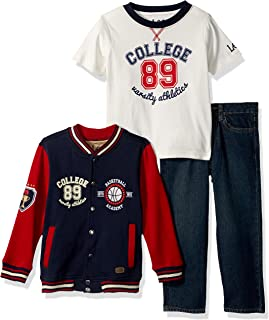 Lee Toddler Boys' Pants, Tee, Jacket set (little boys, baby sizes too)
