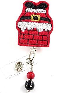 クリスマスサンタDown the煙突red- Nurse Badgereel?–?Retractable IDバッジホルダー?–?ナースバッジ?–?バッジクリップ?–?バッジReels?–?Pediatric?–?RN?–?名前バッジホルダー