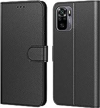 Tenphone Coque pour Xiaomi Redmi Note 10 / Note 10S, Etui Protection Housse Premium en Cuir PU,Pochette Fermeture Magnétique,Flip Case Compatible avec (Redmi Note 10 / Note 10S, Book Noir)