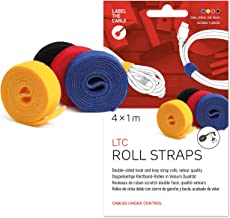Label-the-cable Cable Management Ties Tape, Adjustable, Re-Useable/Cable Tidy/Hook and Loop Cord Organizer, Wire Managemen...
