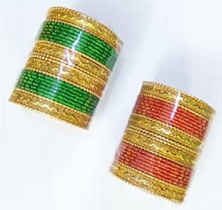 Yuktha Eternals Indian Wear Attractive Multicolored 144 (6 Multi Colors x 24 Bangles) Bangles For Girls & Womens Ethnic Tr...