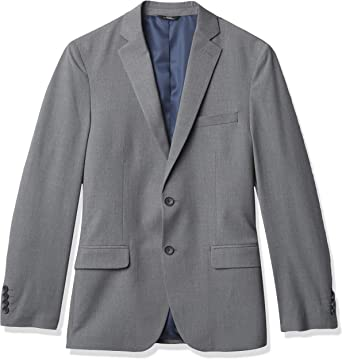 Haggar Men's 4-Way Stretch Plain Weave Ultra Slim Two Button Flap Pocket Suit Separate Coat