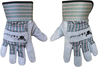 G & F Products JustForKids Kids Work and Gardening Gloves with Rubberized Safety Cuff, Children and Youth age 5 to 8, Premium Leather and Cotton
