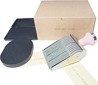 Alphabet Rolling Stamp Package Set Including Exclusive Ink Pad and Cleaner (Black)