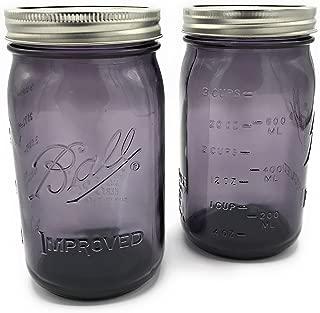Ball Mason Jars-32 oz. Purple-Set of 2