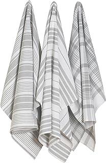 Now Designs Jumbo Pure Kitchen Towel, London Grey, Set of 3