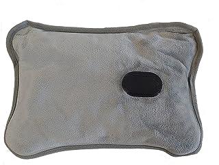 Adler AD 7427 Elektrische warmwaterkruik met zachte overtrek, 360 W, warmtekussen voor volwassenen en kinderen, houdt tot ...
