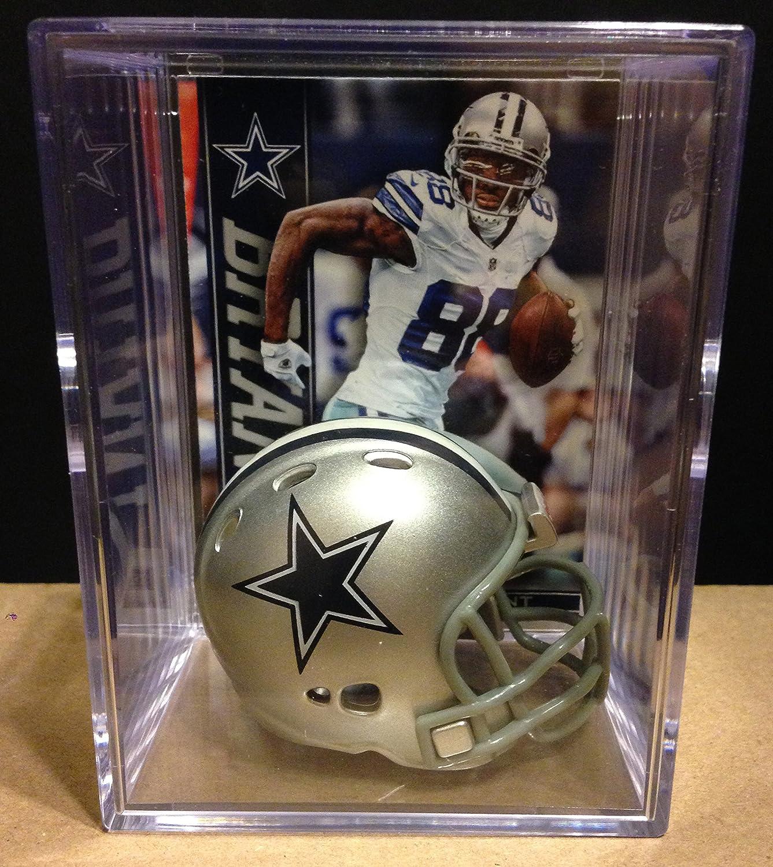 Dallas Cowboys Soldering NFL Helmet Shadowbox w El Paso Mall Bryant Dez card