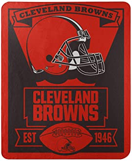 """Officially Licensed NFL """"Marque"""" Printed Fleece Throw Blanket, Multi Color, 50"""" x 60"""""""