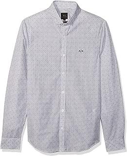 A|X Armani Exchange Men's Long Sleeve Button Down Linedot Dress Shirt