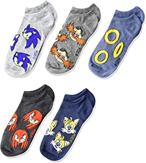 Sonic Boys 5 Pack No Show, Assorted