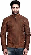 SCHARF Mat Drive Men's Body Con Leather Jacket JAL04