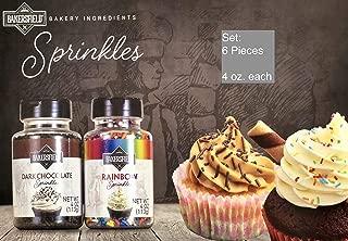 Set of 6 Bakersfield Sprinkles