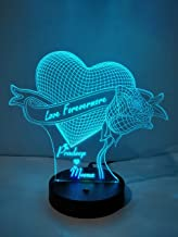 DESIGN ELLE - 3D Illusion LED lamp -16 Colour Changing for Decoration and Gifting (Multicolour) 195