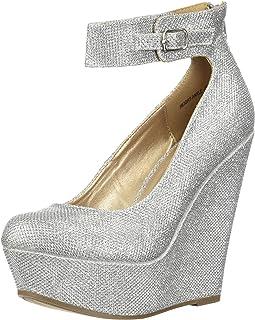 435d742f9e105 Amazon.com: Platform - Silver / Pumps / Shoes: Clothing, Shoes & Jewelry