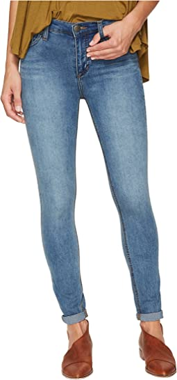 Gummy Denim High-Rise Roller Crop Jeans