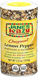 Jane's Krazy Seasonings Mixed-Up Lemon Pepper Marinade & Seasoning, 2.5 Ounce