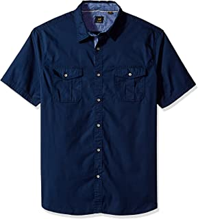 LEE Mens Big /& Tall Thomas Short-Sleeve Woven Shirt