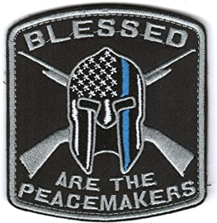 WZT Blessed are The Peacemakers Thin Blue Line Patch